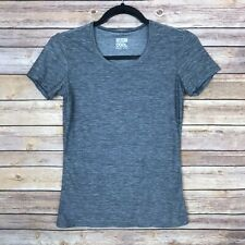 32 Degrees Womens Small Crew Neck Fitted Running Performance Tee Gray Top Yoga