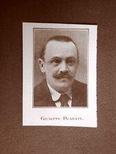Stampa del 1923 Giuseppe Deabate Collaboratore dell'Illustrazione Italiana