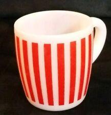 Vintage HAZEL ATLAS Mug ~ Red & White Candy Stripes ~ HA