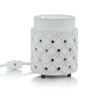 YANKEE CANDLE ADDISON ELECTRIC MELT WARMER & WAX TART BURNER NEW WITH DEFECT