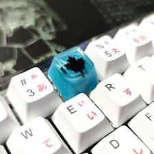 Keyboard keycaps 1 Handmade Resin Keycap Personalized Mechanical Keyboard Keycap for R4 Height Color : The Welkin
