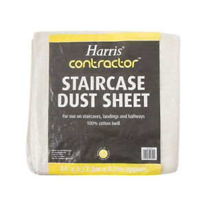Harris Contractor Staircase Dust Sheet Cotton Twill Drop Cloth Dust Sheets