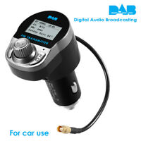 12-24V Car DAB Radio Receiver Adapter w/ FM Transmitter BT USB Charger Handsfree