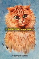 rp10233 - Louis Wain Cat - Orange Persian - photo 6x4