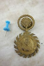 alter BRONZE Orden Amulett Anhänger Münze Baht König Rama V  Thailand ~1950