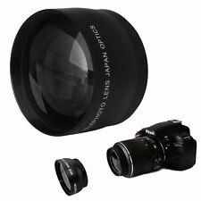 52mm 2x Coated Telephoto Lens for Nikon AF-S DX Nikkor 18-55mm AF-S 55-200mm