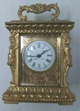 Miniature Mantel Shelf Clock Made in France Working