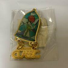 RARE Disney On Classic JAPAN Pin Enchanted Rose Beauty & The Beast