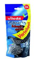 Vileda® Glitzi Scheuerspirale Edelstahl 3er Vorteilspack