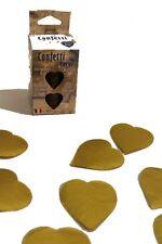 Confettis de scène en forme de coeur dorés 100 grammes papier de soie [22709
