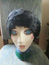 Vintage Ladies Black Feathers Beret Net Hair Covering Hat