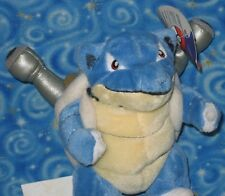 Pokemon Blastoise Plush Doll 1999 Play by Play Nintendo Next Day USA Shipping