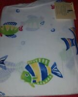 NEW Pottery Barn Kids FISH Bermuda Crib SHEET colorful toddler bed