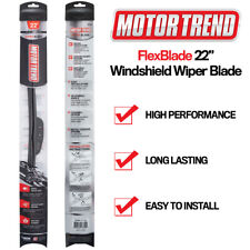"All Season Wiper Blades Motor Trend 22"" Front Windshield Bracketless J-HOOK-1 PC"