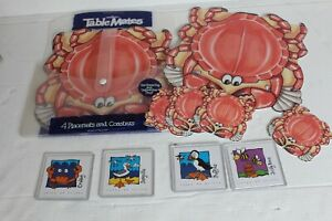 CRAB Placemats and Coasters Crab Design pimpernel & isles of scilly coasters FUN