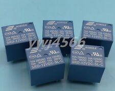 Free Shipping 10pcs Mini 12VDC SRD-12VDC-SL-C SONGLE Power Relay 5Pins