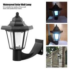 Solar LED Wall Lamp Lantern Waterproof Outdoor Garden Landscape Hexagonal Light