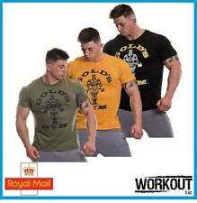 Golds Gym Mens Muscle Joe T Shirt  Muscle Fit 100% Authentic Bodybuilding