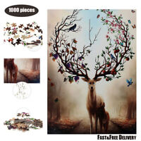 1000 Pieces Adult Kids Jigsaw Puzzle Deer Puzzles Educational Learning Toy Gifts