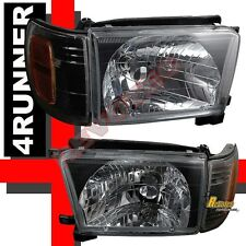 1999-2002 Toyota 4Runner Black Headlights Corner Signal Lights RH + LH