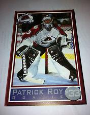 Colorado AVS Avalanche NHL HOCKEY PATRICK ROY POSTCARD 1996-1997 SEASON RARE