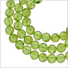 """44ct Natural Peridot Round Beads 5mm 8"""" #85439"""