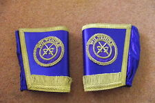 pair of very ornate masonic armlets (wiltshire)