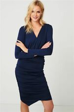 NEXT Navy Ruched Stretch Dress 16 & 20 RRP £48
