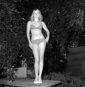 Bunny Yeager 1960s Camera Pin-up Negative Photograph Leggy Blonde In Bikini Fun!