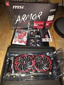 RX 580 8GB 256bit ARMOR MK2 OC DX 12 VR Ready - GPU W/ Backplate RX580 MINT