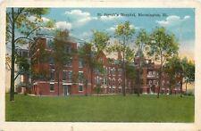 Bloomington Illinois~St Josephs Hosital~1919 Postcard