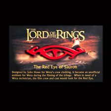 Lotr Red Eye Of Sauron Collectible Pin Weta Authentic New