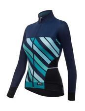 Maillots de ciclismo de manga larga en azul, para mujer