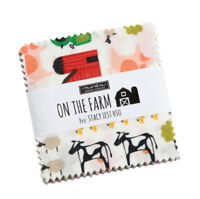 Moda Fabrics Mini Charm Pack - On the Farm by Stacy lest Hsu. 2 1/2 in squares
