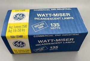 GE 135 WATTS WATT-MISER INCANDESCENT A LAMP