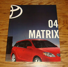 Original 2004 Toyota Matrix Sales Brochure 04