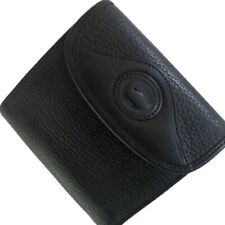 DOONEY & BOURKE VINTAGE PEBBLED LEATHER KISSLOCK  WALLET BLACK