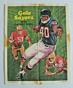 1970 TOPPS FOOTBALL POSTERS -  PARTIAL SET , 15 of 24 , SAYERS , BUTKUS , ELLER