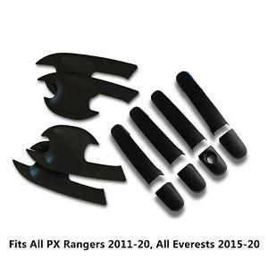 BLACK DOOR HANDLE PROTECTOR KIT - Accessories For Ford Ranger & Everest 2011-18