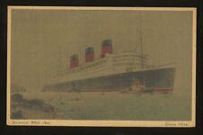 RMS Queen Mary Postcard - Cunard White Star Line