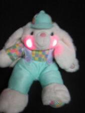 """14"""" Musical Sound Plush Stuffed Easter Bunny Rabbit Lights up Battery Operated"""