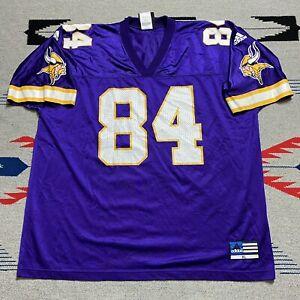 Vintage Adidas Minnesota Vikings #84 Randy Moss Jersey Mens Size XL Purple