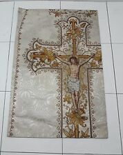 Antique French Crucifixion Vestment Chasuble Priest Panel 1920's