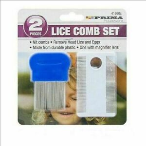 Prima Plastic Nit Hair Comb Set Magnifier Remove Head Lice And Eggs Effectively