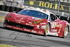 "Massimiliano ""Max"" Papis SIGNED 12x8 AIM Ferrari 458 , Rolex Daytona 24hrs 2013"