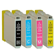 Set 4 Cartucce XL per BROTHER mfc-240c mfc-3360c mfc-440cn mfc-465cn lc-1000