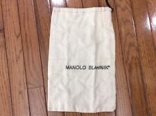 Manolo Blahnik FLANNEL SHOES  Beige DUST BAG for SHOES COVER SHOES STORAGE (p4)