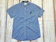 Scotch & Soda Lightweight Blue Check Gingham Cotton Short Sleeve Shirt Large