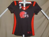 Cleveland Browns NFL Fan Fashion JERSEY Shirt by MAJESTIC Womens Medium NWT   55 89d704c35