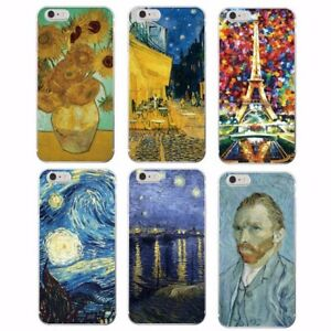 Van gogh starry night sunflower soft case for iPhone 11 Pro Max Samsung S20 S10